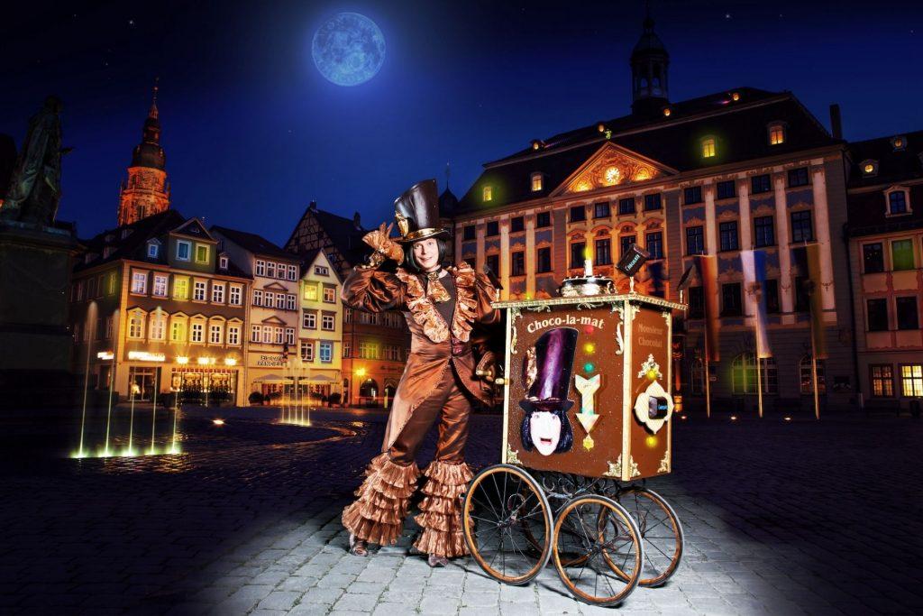 Der Wahlakt Monsieur Chocolat in Aktion.
